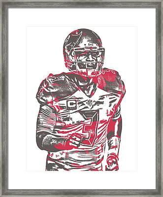 Jameis Winston Tampa Bay Buccaneers Pixel Art 9 Framed Print