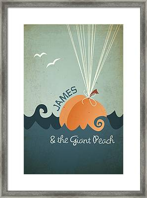 James And The Giant Peach Framed Print by Megan Romo