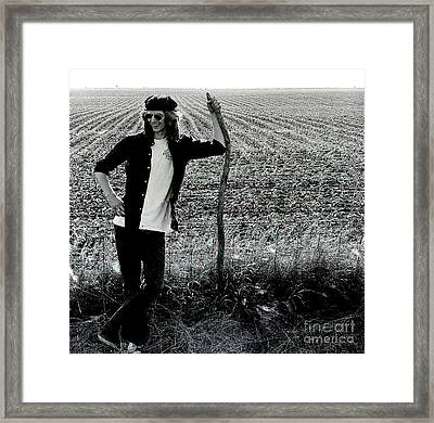 James At 18yrs. Framed Print