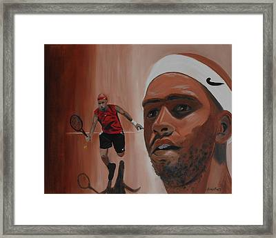 Framed Print featuring the painting James Blake by Quwatha Valentine