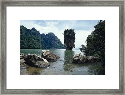 James Bond Island, A Limestone Framed Print by Jason Edwards