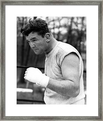James Braddock In Training For Upcoming Framed Print