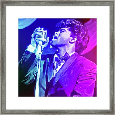 James Brown Framed Print by Greg Joens