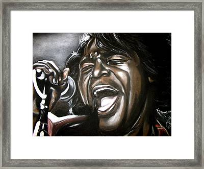 James Brown Framed Print by Zach Zwagil