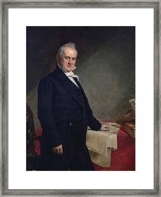 James Buchanan Framed Print by George Peter Alexander Healy