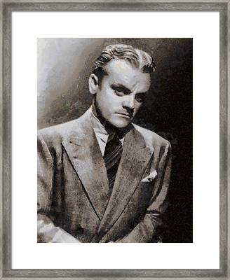 James Cagney Hollywood Actor Framed Print by John Springfield