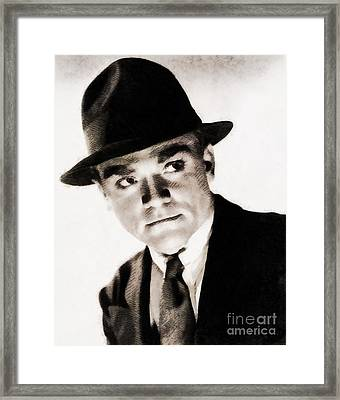 James Cagney, Hollywood Legend By John Springfield Framed Print by John Springfield