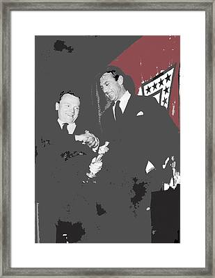James Cagney Receiving An Oscar From Gary Cooper For Yankee Doodle Dandy 1943-2016 Framed Print