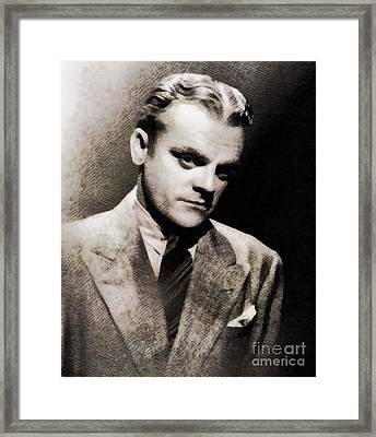 James Cagney. Vintage Actor Framed Print by John Springfield