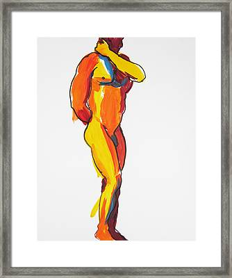 James Classic Pose Framed Print by Shungaboy X