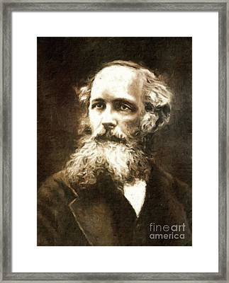 James Clerk Maxwell, Scientist By Mary Bassett Framed Print