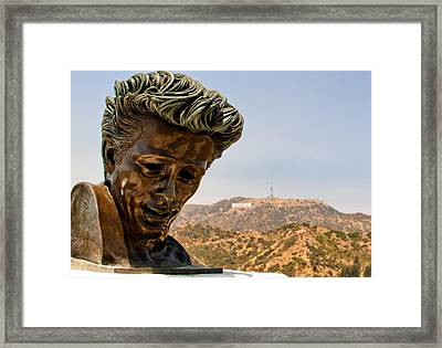 James Dean - Griffith Observatory Framed Print by Natasha Bishop