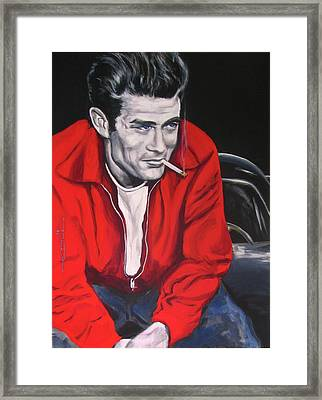 James Dean - Picture In A Picture Show Framed Print by Eric Dee