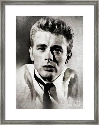 James Dean, Actor By Js Framed Print