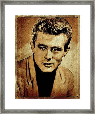 James Dean Hollywood Legend Framed Print by Esoterica Art Agency