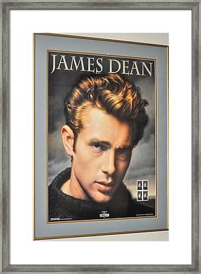 James Dean Hollywood Legend Framed Print