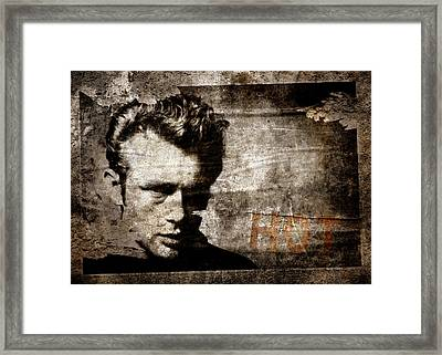 James Dean Hot Framed Print