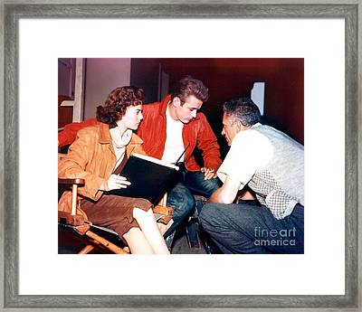 James Dean In Rebel Without A Cause Framed Print