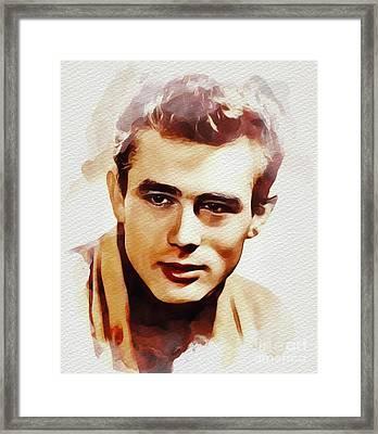James Dean, Movie Legend Framed Print