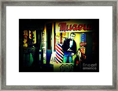 James Dean On Route 66 Framed Print by Susanne Van Hulst