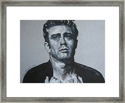 James Dean One Framed Print by Eric Dee