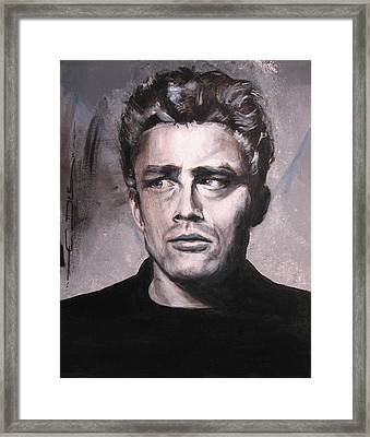 James Dean Two Framed Print by Eric Dee