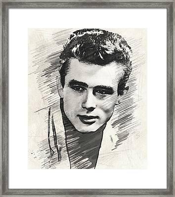 James Dean, Vintage Actor Framed Print