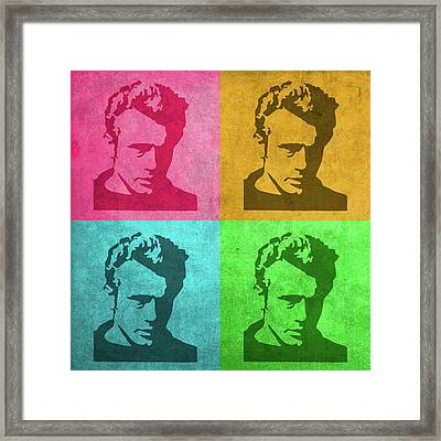 James Dean Vintage Pop Art Framed Print