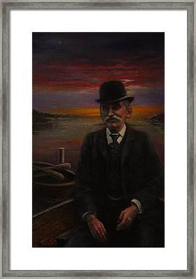 James E. Bayles Sunset Years Framed Print