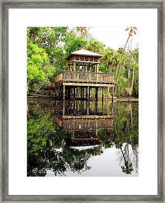 Framed Print featuring the photograph James E Grey Fishing Pier by Barbara Bowen