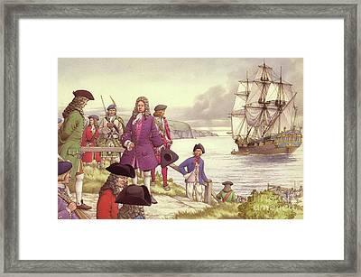 James Edward Stuart, The Old Pretender, Departs For France From Scotland Framed Print by Pat Nicolle
