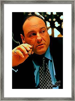 James Gandolfini As Tony Soprano Framed Print