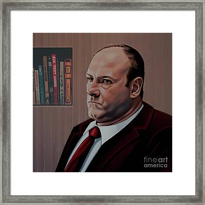 James Gandolfini Painting Framed Print by Paul Meijering