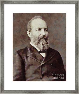James Garfield, President Of The United States By Sarah Kirk Framed Print by Sarah Kirk