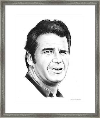 James Garner Framed Print