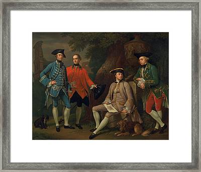 James Grant Of Grant, John Mytton, The Hon. Thomas Robinson, And Thomas Wynne Framed Print