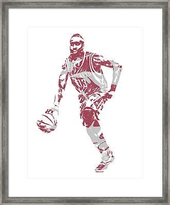 James Harden Houston Rockets Pixel Art 20 Framed Print