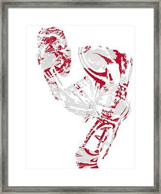 James Harden Houston Rockets Pixel Art 5 Framed Print