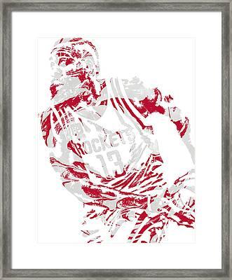 James Harden Houston Rockets Pixel Art 7 Framed Print