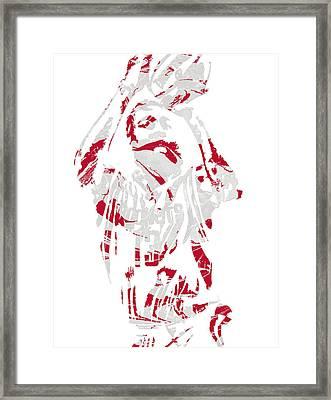 James Harden Houston Rockets Pixel Art 9 Framed Print