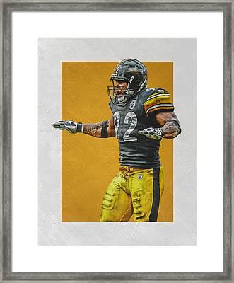 James Harrison Pittsburgh Steelers Art 2 Framed Print by Joe Hamilton