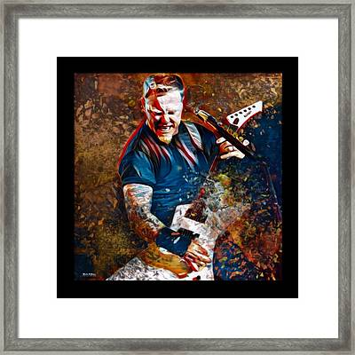 James Hetfield Metallica Framed Print
