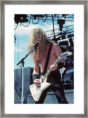James Hetfield Of Metallica Framed Print by Rich Fuscia