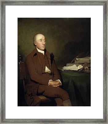 James Hutton, 1726 - 1797. Geologist Framed Print by Henry Raeburn