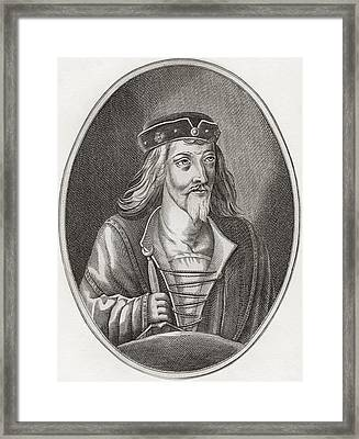 James I, King Of Scots, 1394 Framed Print