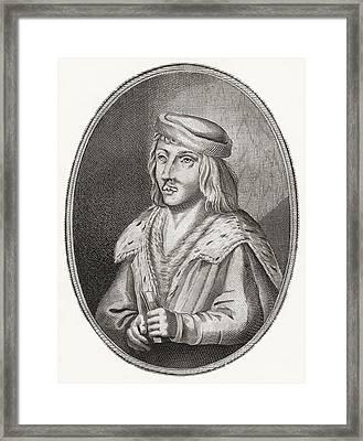 James II, King Of Scots, 1430 Framed Print