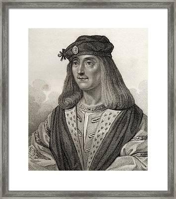 James Iv King Of Scotland 1473 - 1513 Framed Print