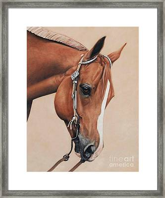 James Framed Print by Joni Beinborn