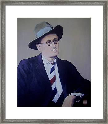 James Joyce Framed Print by Eamon Doyle