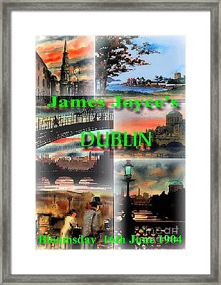James Joyce's Dublin Framed Print